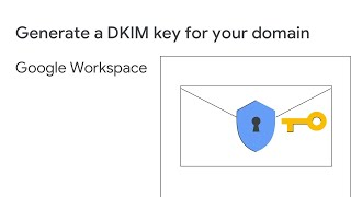 Generate a DKIM key for your domain