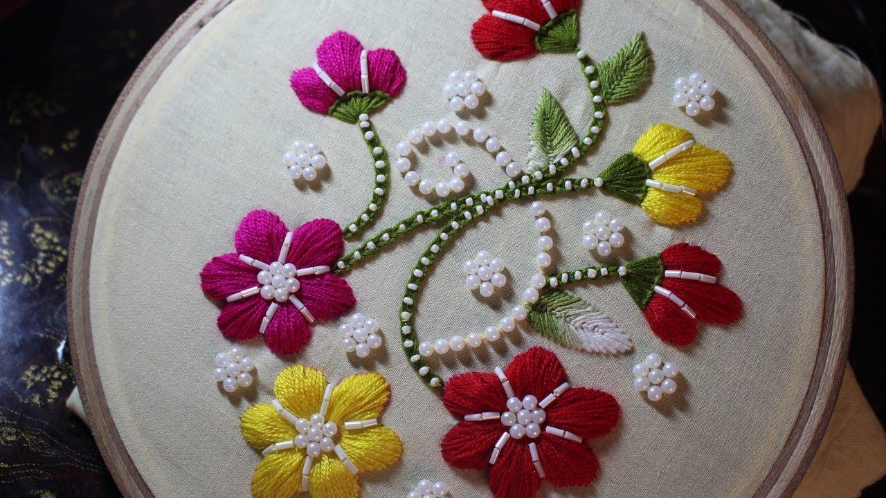 Hand Embroidery Designs Puff Bullion Knot Stitch Stitch And