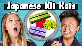 TEENS EAT JAPANESE KIT KATS! | People Vs. Food