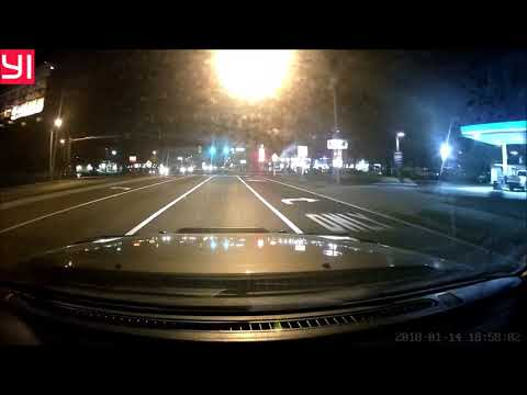 Night Driving With My Yi Ultra Dash Camera In Low Light Area In Town
