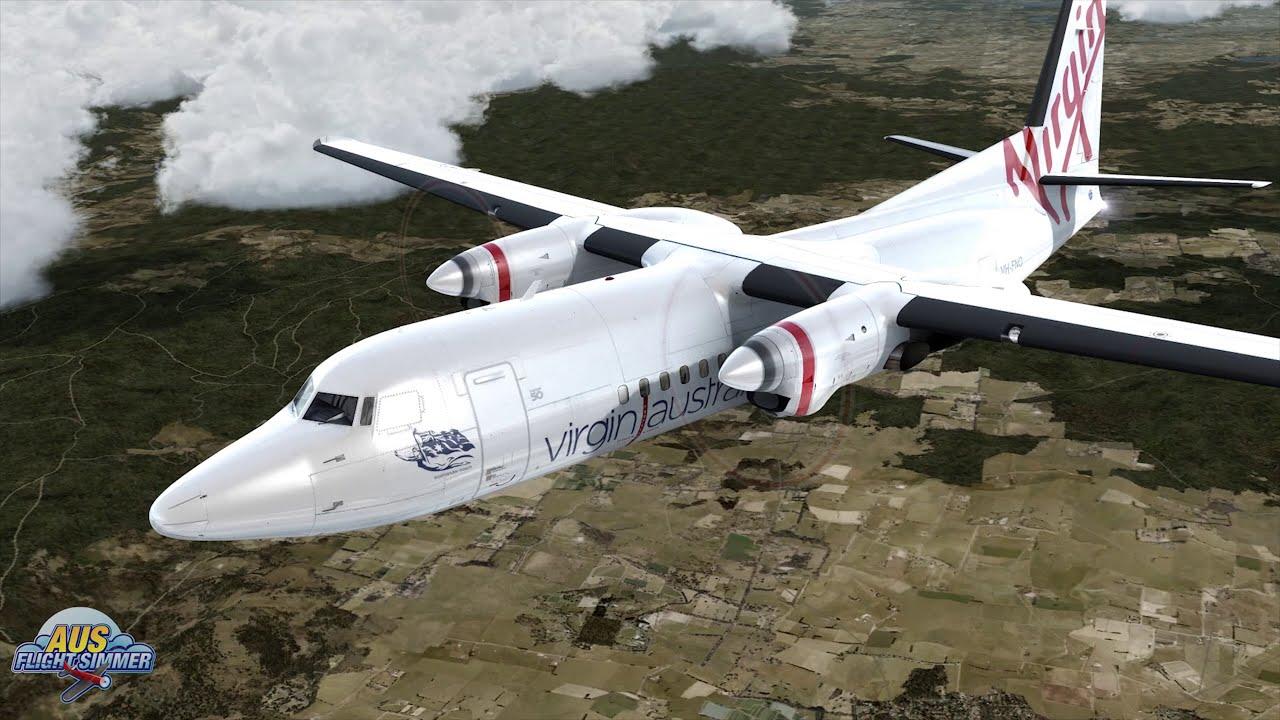 Test Drive | Carenado Fokker F50 | Prepar3d V4  Aus Flight Simmer 24:30 HD