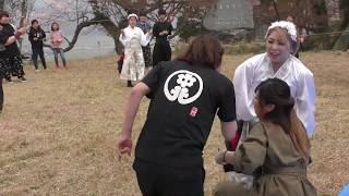 チーム満天星 郡家中北連⭐2019八頭町船岡天満山桜祭り 総踊りよっちょれ
