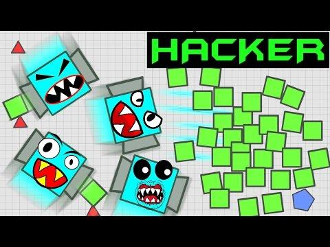 DIEP.IO HACKER CONTROLLING 2 & MORE TANKS!! // Diep.io Hacks // Diep.io Mods