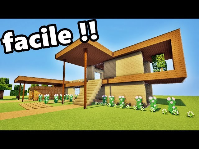 defroi minecraft tuto maison en bois facile a faire. Black Bedroom Furniture Sets. Home Design Ideas