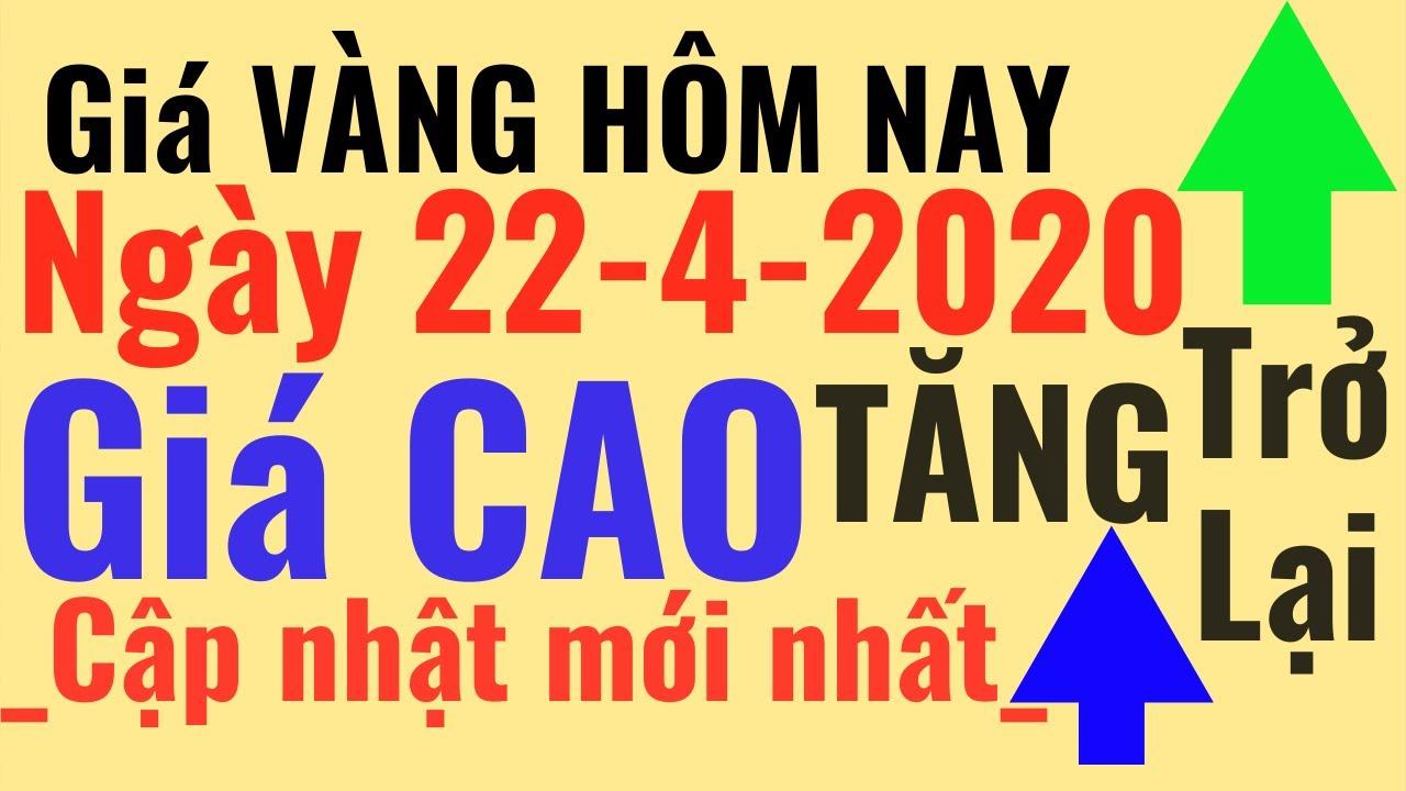 Giá VÀNG Hôm Nay 22/4 TĂNG trở lại. Bảo Tín Minh Châu SJC Ý Mi Hồng 9999 24k PNJ online trực tuyến