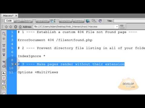 Link to pages without their extension .html  htaccess tutorial apache server