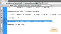 Link to pages without their extension .html .php htaccess tutorial apache server