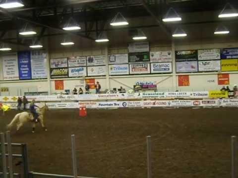 Barrel Racing on Kokanee-Williams Lake Indoor Rodeo BCRA-2011