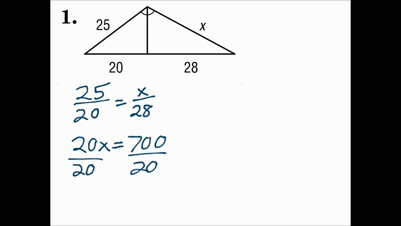 Geometry 24.24 Parts of Similar Triangles Regarding Proving Triangles Similar Worksheet