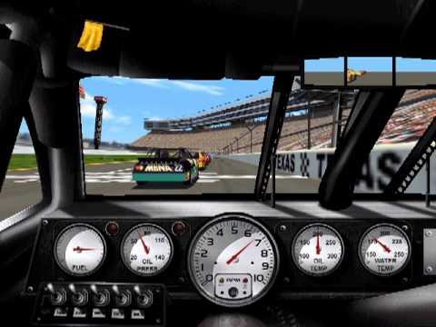 1999 Edition NASCAR Racing PC game play. Texas