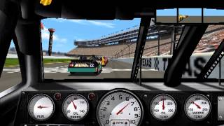 1999 Edition NASCAR Racing PC game play. Texas