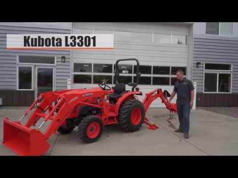 Kubota L3301 With Loader & Backhoe
