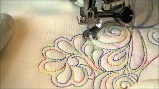 Free Motion Quilting- Random Fill Around Negative Space