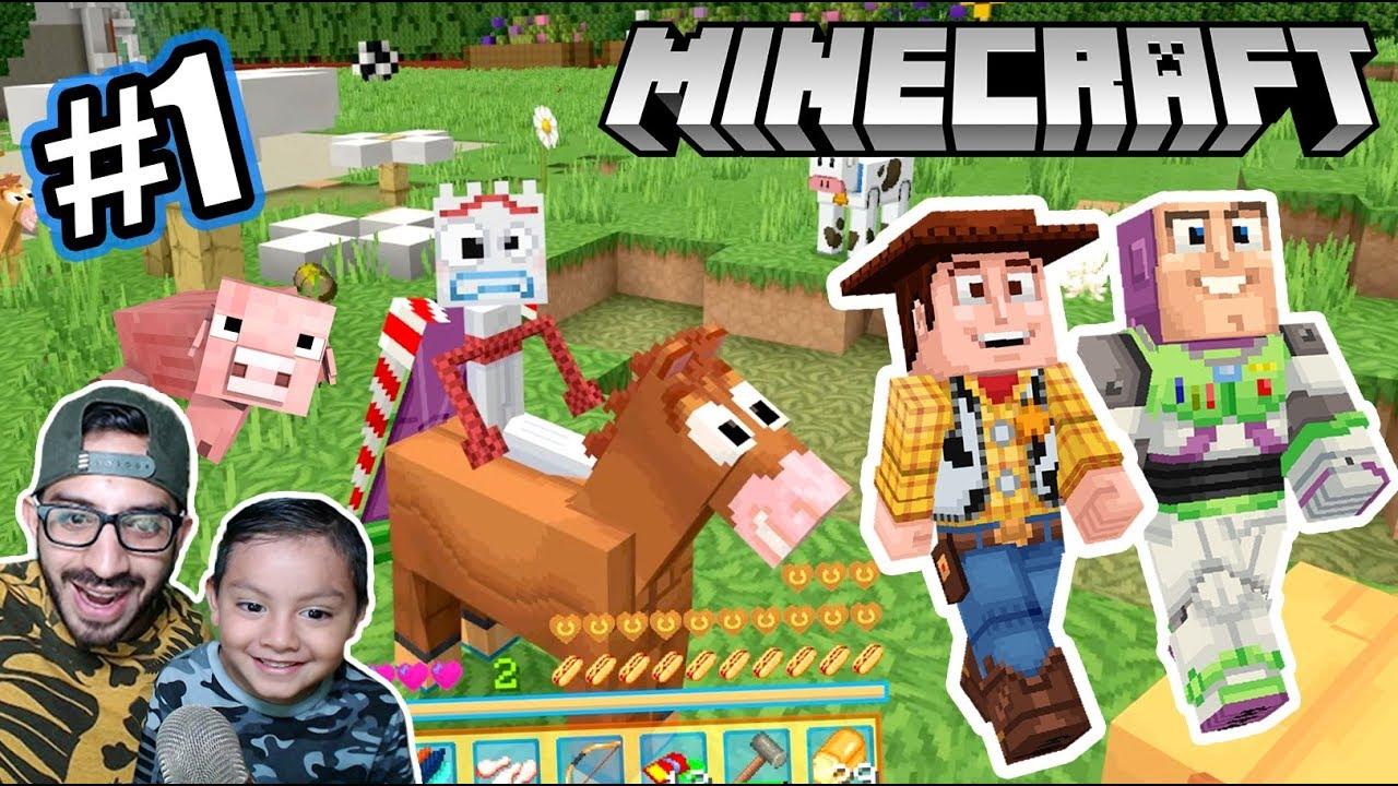 Forky en Minecraft | Toy Story 4 en Minecraft | Juegos Karim Juega