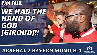 We Had The Hand Of God [Giroud]!! | Arsenal 2 Bayern Munich 0