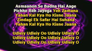 Video Zindagi Ek Safar Hai Suhana Karaoke - Andaaz download MP3, 3GP, MP4, WEBM, AVI, FLV Januari 2018