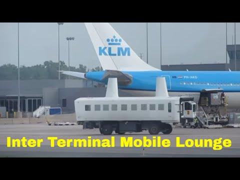 Unique Inter Terminal MOBILE Lounge Plane Spotting  Washington D.C Dulles Airport