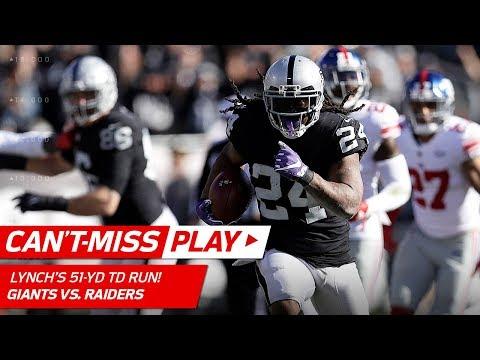 Marshawn Lynch Breaks Off 51-Yd TD Run, Longest Since 2014!   Can't-Miss Play   NFL Wk 13 Highlights