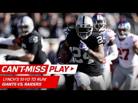 Marshawn Lynch Breaks Off 51-Yd TD Run, Longest Since 2014! | Can't-Miss Play | NFL Wk 13 Highlights