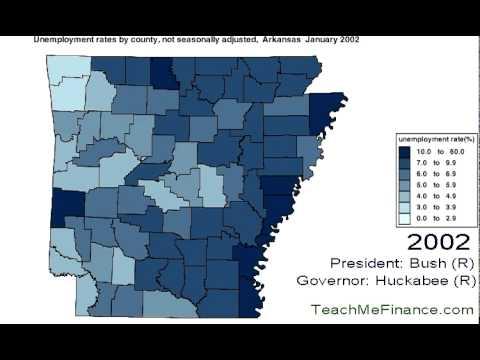 Arkansas Unemployment  Map