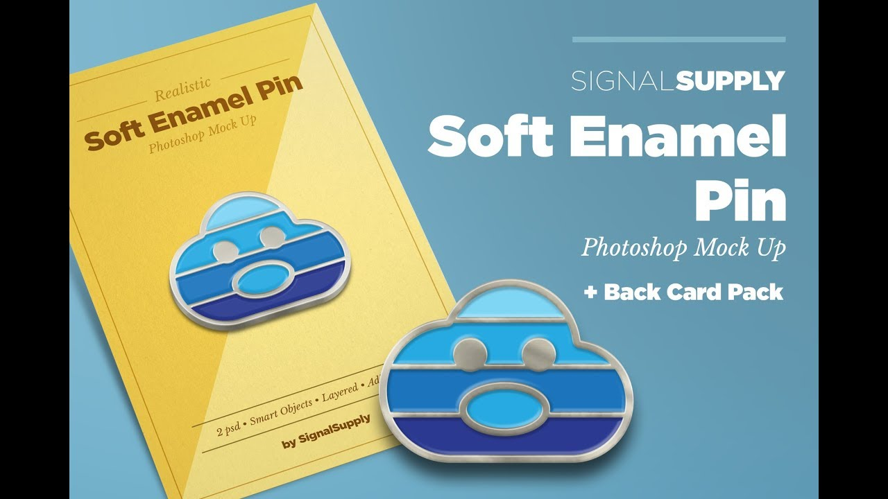 [TUTORIAL] How To Make Soft Enamel Pin Mockup
