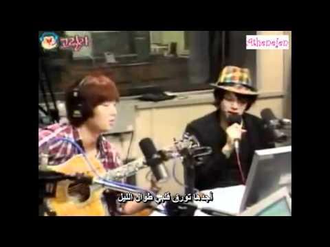 Heechul singing A ing Orange caramel (Arabic sub)