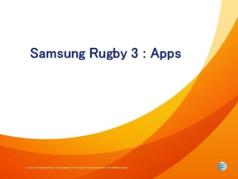 Samsung Rugby 3: Apps