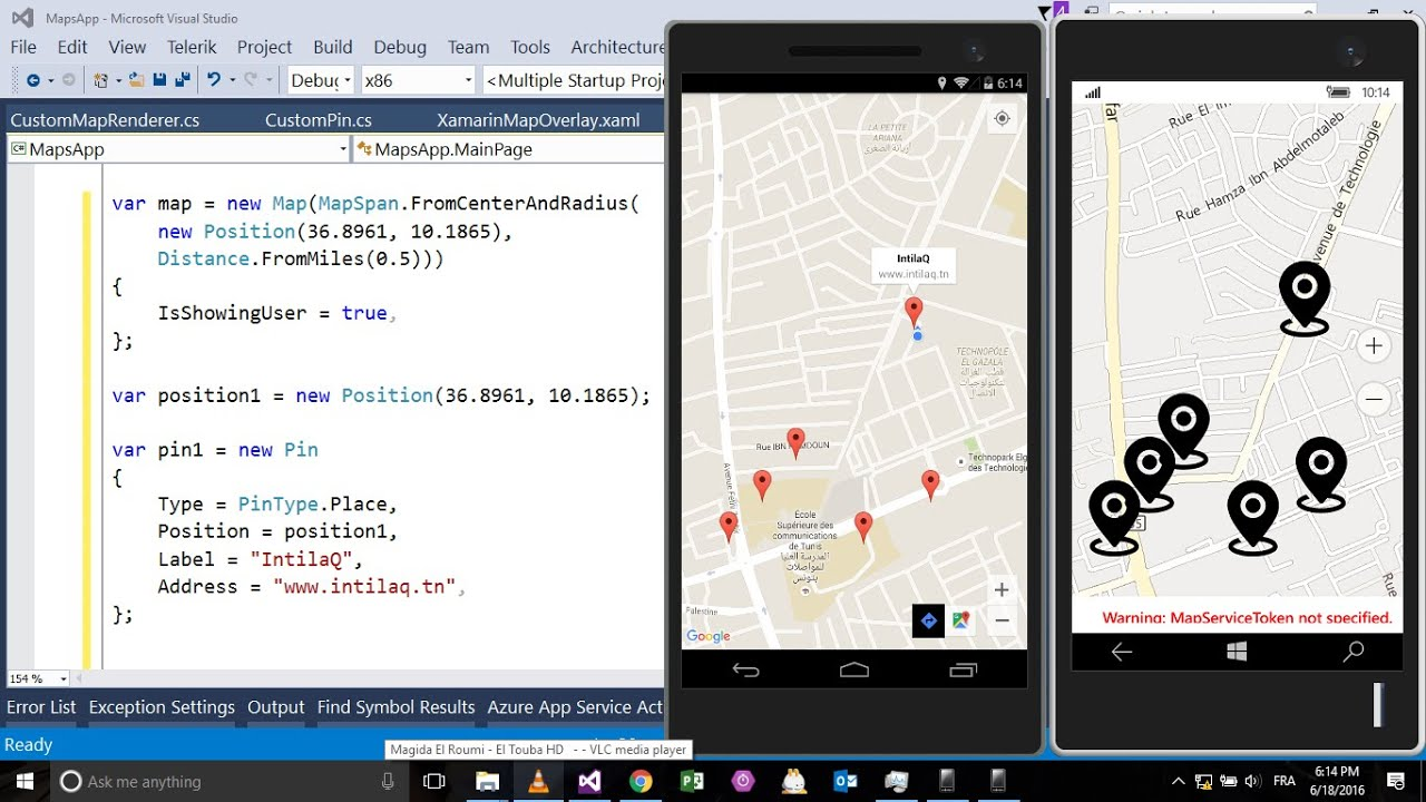 Using Maps with Xamarin Forms