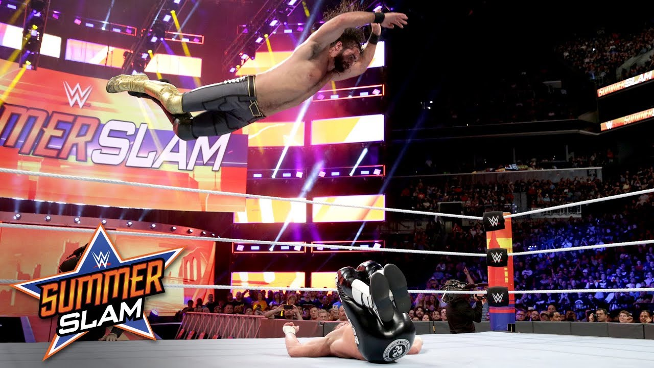 seth rollins and dolph ziggler get summerslam started with an
