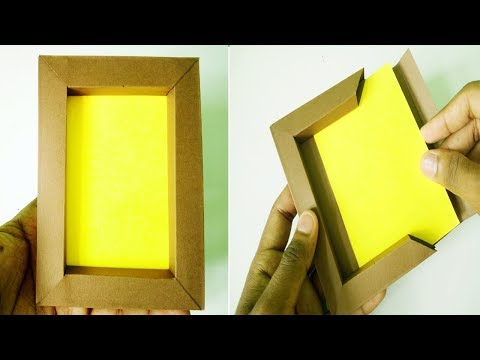 DIY Paper photo frame without glue | paper craft (Very Easy)