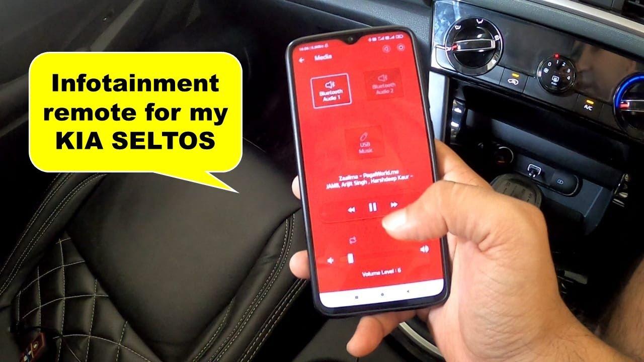 Infotainment remote for my KIA Seltos | Uandi Automobiles