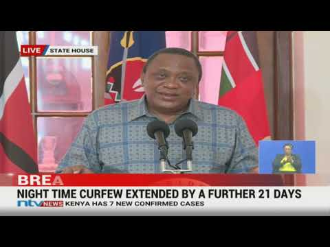 Curfew and other restrictions to be reviewed based on expert advice - President Uhuru