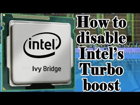 How to Disable Intel Turbo Boost