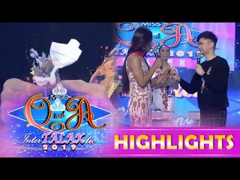 It's Showtime Miss Q & A: Vhong gives Truman Catriona Meow Meow a flower tissue