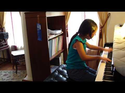 Mozart Piano Sonata No. 12 in F Major K. 332 1st movement 08-07-2014 madelinexupiano