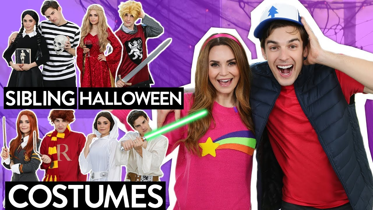 6 Sibling Halloween Costume Ideas W My Brother Matpat Youtube