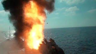 Корреспондент «Звезды» показал пуски «Калибров» из рубки «Адмирала Эссена»