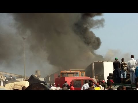 Togo: video de l'incendie du TP3 au Port Autonome de Lomé