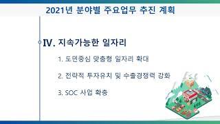 2021 주요 업무 추진 계획