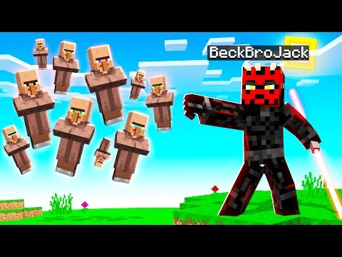 Playing MINECRAFT With FORCE POWERS! (Lightsabers)