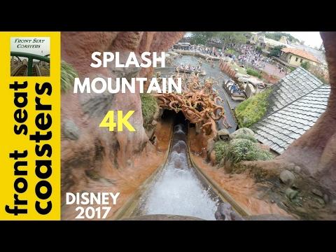 Splash Mountain POV 4K Front Seat On-Ride 2017 Magic Kingdom Log Flume Disney World