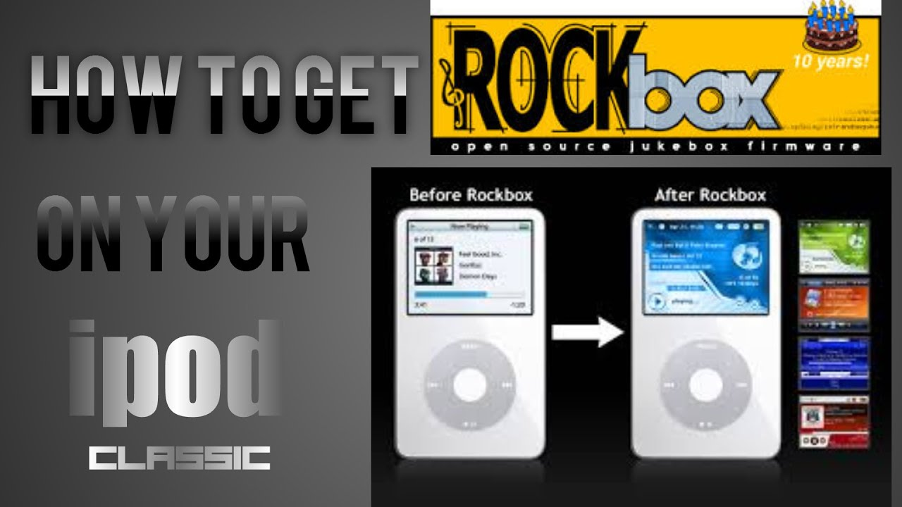 HOW TO INSTALL ROCKbox ON AN IPOD CLASSIC (1 ... - …