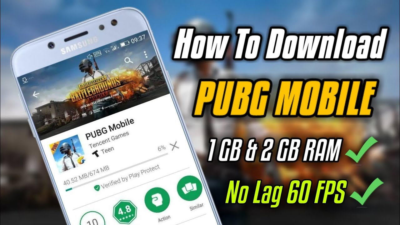 How To Install PUBG Mobile On 1 GB & 2 GB RAM Phones | 100% Working Trick