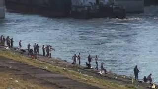 г.Волжский. Рыбалка на обводном канале Волжской ГЭС.