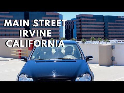 Driving Main Street in Irvine, California