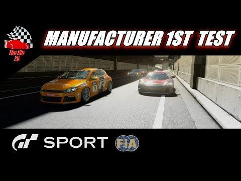 GT Sport 1st FIA Manufacturer Test