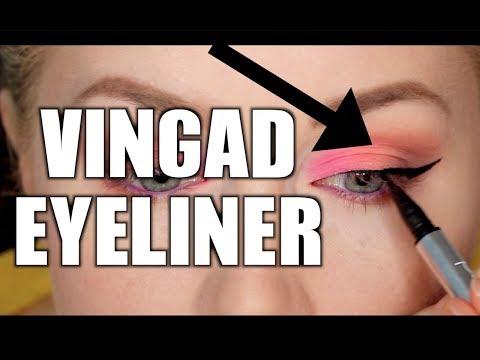 Vingad eyeliner för tungt ögonlock/negativ globlinje - SMINK FÖR NYBÖRJARE