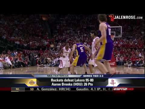 Lakers vs Rockets Game 6 5/14/09 - 2009 NBA Playoffs - Jalen Rose on ESPN