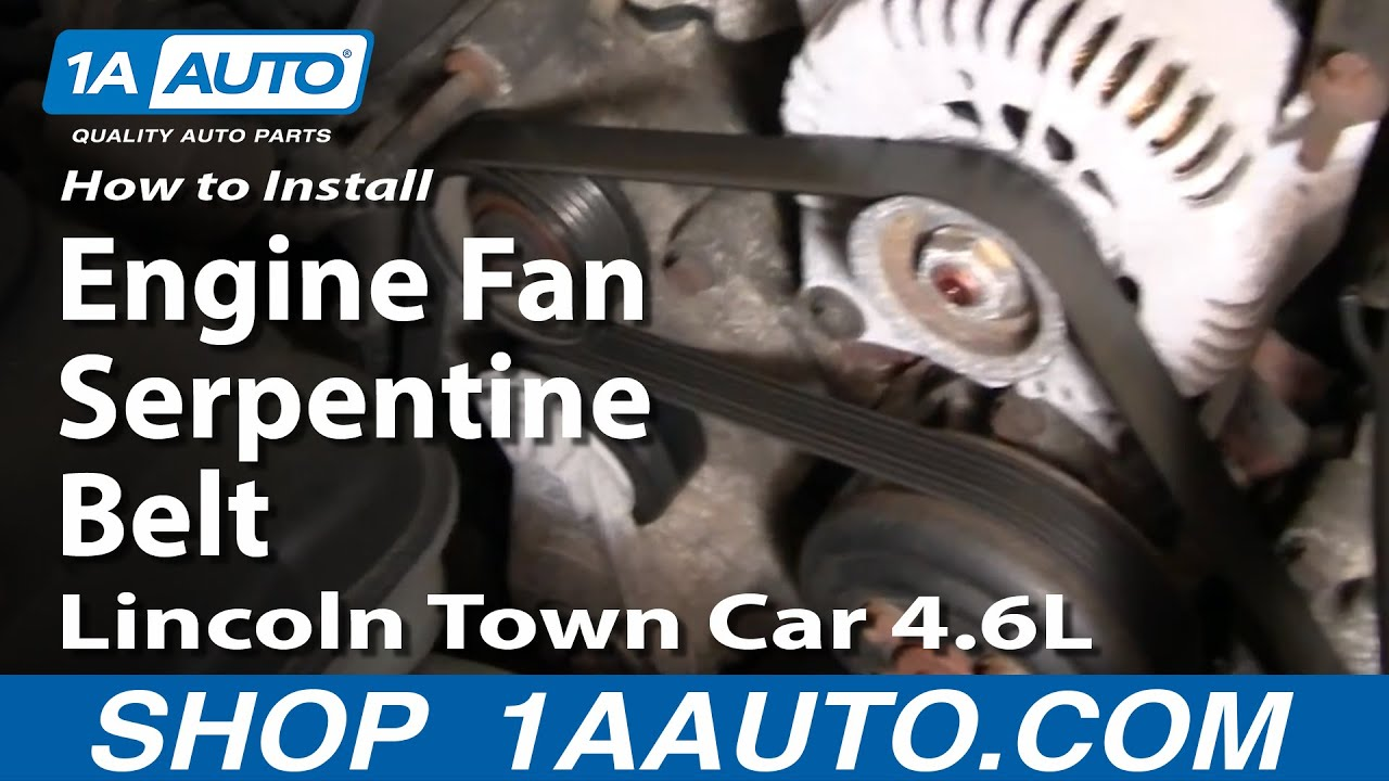 how to install repair replace engine fan serpentine belt lincoln 2007 lincoln town car interior 2007 lincoln town car belt diagram [ 1920 x 1080 Pixel ]