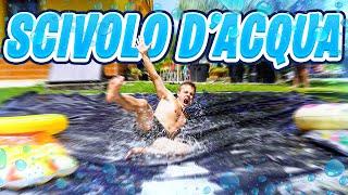 💦 SCIVOLO D'ACQUA in VILLA!!! (Water Slide Challenge) w/Elites